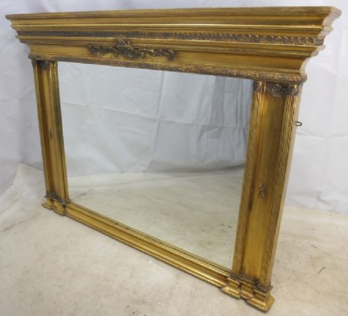 Large, Gilt Overmantel Mirror in Classical Style